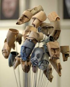 Cardboard Craft from Empty Paper Rolls ~ AllThingAbout  artist: Junion Jacquet...