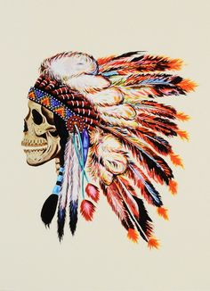 ok so I don't like skulls and they really freak me out - but I can't get over this head piece and how beautiful the colors are.