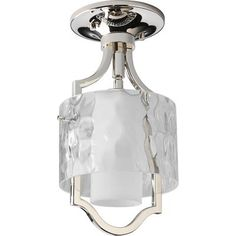 Progress Lighting - Caress Collection Polished Nickel 1-light Mini-Pendant - 785247168422 - Home Depot Canada