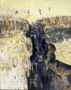 Alternate image of Waterfall polyptych by Fred Williams Abstract Landscape Painting, Landscape Art, Landscape Paintings, Abstract Art, Fred Williams, Japanese Prints, Australian Artists, Asian Art, Pop Art