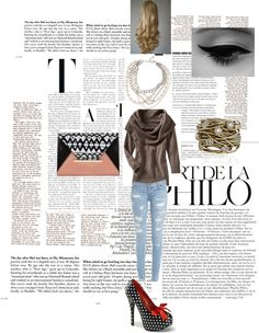 """comfy sweater and ripped jeans"" by norabetcher on Polyvore"