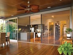 Perfect retractable screen with stacker door