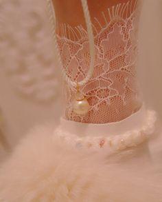 Kasumi Like Pearl Pendant Angel skin color von MorgentauSchmuck