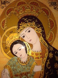 Religious Pictures, Art Icon, Orthodox Icons, My Glass, Mother And Child, Ikon, Madonna, Folk Art, Religion