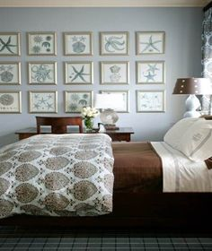 Watery blue Nautical Bedroom Ideas #decor #interiors #home