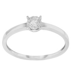 "Bliss by Damiani ""Illusion"" 18k White Gold & 0.10 Cttw Diamonds Engagement Ring"