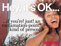 Hey, it's OK (!!!!)