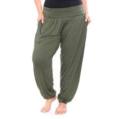 d031dcffcfe Plus Size White Mark Harem Pants