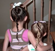Super cute...let's see just how easy it really is!!!                 Easy Twist Around Braided Ponytail