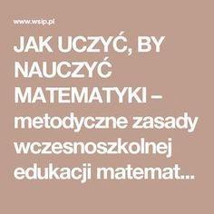 JAK UCZYĆ, BY NAUCZYĆ MATEMATYKI – metodyczne zasady wczesnoszkolnej edukacji matematycznej » Wydawnictwa Szkolne i Pedagogiczne