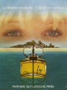 Guy Laroche (Perfumes) 1980 Fidji - http://hprints.com/Guy_Laroche_Perfumes_1980_Fidji-10685.html