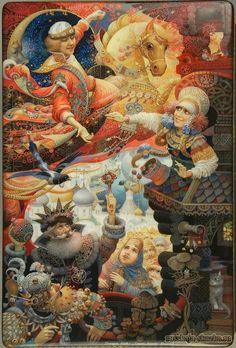 """Сказка """"Сивка-бурка"""" http://russkaja-skazka.ru/sivka-burka/ Царь кликнул клич: всем добрым молодцам, холостым, неженатым, съезжаться на царский двор. Дочь его, Несравненная Красота, велела построить себе терем о двенадцати столбах, о двенадцати венцах.В этом тереме она сядет на самый верх и будет ждать, кто бы с одного лошадиного скока доскочил до нее и поцеловал в губы. За такого наездника, какого бы роду он ни был, царь отдаст в жены свою дочь, Несравненную Красоту, и полцарства в…"""