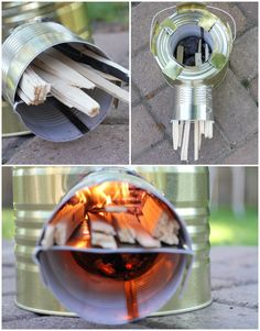 Build a Rocket Stove- One of the best and most efficient ways to cook in an emergency! Already have half the supplies. Diy Rocket Stove, Build A Rocket, Rocket Stoves, Survival Food, Camping Survival, Survival Tips, Survival Skills, Survival Shelter, Homestead Survival