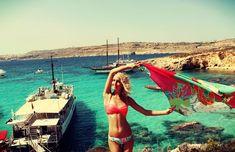Blue Lagoon, Malta - When you're enjoying a weekend trip! :) #malta #travel