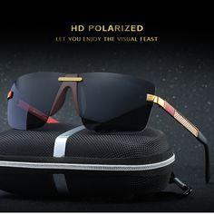 HD Polarized Sunglasses Rimless Men Sunglasses 2017 Luxury Brand Designer Gafas Oculos De Sol Masculino Polarizado Espelhado