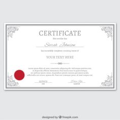 Pinterest o catlogo mundial de ideias certificate template in ornamental style free vector yelopaper Image collections