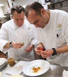 Chef François Payard and Chef Adil Slassi .