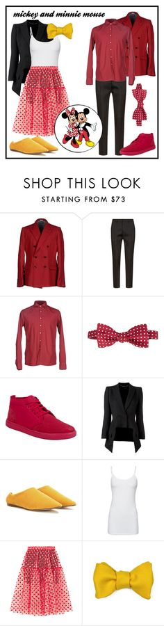 """Minnie and Mickey"" by kkeen702 ❤ liked on Polyvore featuring Dolce&Gabbana, Dsquared2, D.R SHIRT, Simeone Napoli, Timberland, Alexander McQueen, Acne Studios, Splendid, Paskal and Robinson & Dapper"