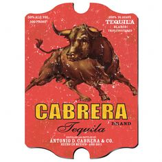 Vintage Personalized Tequila Pub Sign-No bull! Serious tequila drinkers will want to hang this personalized pub sign in their favorite drinking spot. Its worn appearance gives it that vintage look and the bright colors and charging bull bring out its Vintage Bar, Vintage Signs, Vintage Food, Poster Vintage, Vintage Kitchen, Retro Vintage, Charging Bull, Tequila Drinks, Man Cave Gifts