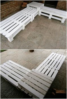 Use Pallet Wood Projects to Create Unique Home Decor Items – Hobby Is My Life Wood Pallet Couch, Pallet Seating, Pallet Patio Furniture, Reclaimed Wood Furniture, Diy Furniture, Playhouse Furniture, Furniture Design, Pallet Playhouse, Pallet Benches