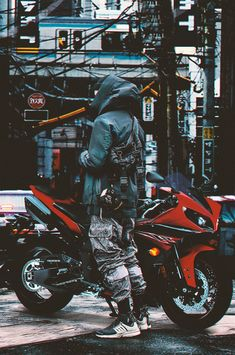 s fashion papel de parede para telefone, pa Urban Photography, Creative Photography, Street Photography, Arte Cyberpunk, Cyberpunk Fashion, Mobile Wallpaper, Iphone Wallpaper, Motocross, Mode Sombre