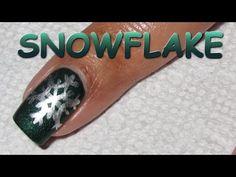 12 Days of Christmas, Day 3: Snowflake | Nail Art Tutorial - YouTube