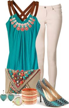 """Southwest Pop"" by michelle-hersh-wenger on Polyvore"