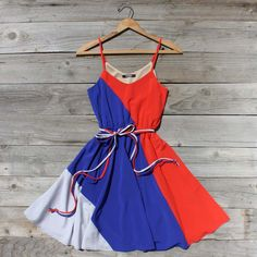 Firecracker Dress in Red, Sweet Women's Country Clothing