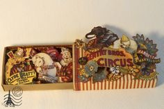 Welcome to the Cirque!!! Altered box of matches by Tati Scrap #graphic45