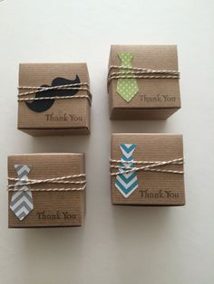 Little Man Baby Shower favor boxes Neck tie by TheLondonLoft