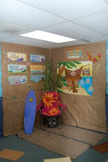 Beach Oasis Reading Corner - Camping Chair idea is great