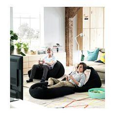 RISÖ Fauteuil poire, intérieur/extérieur - noir, - IKEA