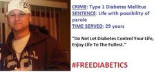 "This is Greg. He hasn't been free in 29 years! He says ""do not let diabetes control your life. Enjoy life to the fullest."" We agree with you Greg! #freediabetics #type1 #type1diabetes #curediabetes #insulinisnotacure #diabetesadvocacy #diabetesawareness #incarcerated #mugshot #jail #possibilityofacure #lifesentence #life #type1diabetesMellitus #weneedacure #diabetessucks #nopricks #oldt1pro #diabeticwarriors #type1survivors"