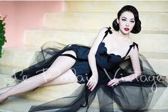 Vintage Retro Pinup jacquard corset polka dot shell jumpsuit tutu set — GOOD GIRL REBEL