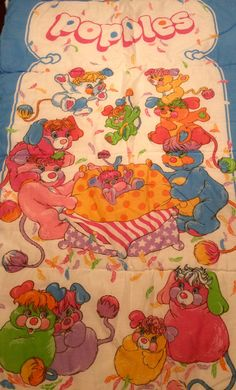 1986 Popples Sleeping Bag by American Greetings by Lalecreations