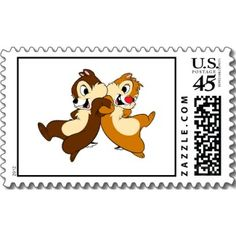 Disney Chip and Dale stamp