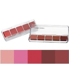 Cinema Secrets 5-in-1 Ultimate Lip Palette, #4 (Summer Nights) by Cinema Secrets. $16.99. Clear case is compact storage. Light to dark pinky purple lipsticks particularly flattering to those with dark skintones. Cinema Secrets colors: Pink Bloom, Pearl Pink, Chianti, Millenium, Mauve.. Five richly hued lip colors at your fingertips. Cinema Secrets 5-in-1 Ultimate Lip Palettes keep five richly hued lip colors at your fingertips. Clear case snaps shut and provides compact ...