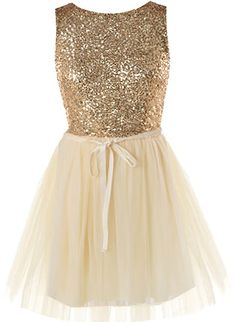 Gold Opulence Dress: Features a sparkling sequin bodice covered in hundreds of glittering gold pieces, removable ribbon belt for perfect adjustability, centered rear zip closure, and a super feminine mesh ballerina skirt to finish. Gold Dama Dresses, Quinceanera Dama Dresses, Short Sparkly Dresses, Gold Bridesmaid Dresses, Quince Dresses, Pretty Dresses, Homecoming Dresses, Short Dresses, Bridesmaids