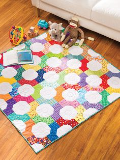 Quilting - Patterns for Children & Babies - Bow Tie Baby Play Mat