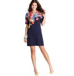 Placed Floral dress-LOFT