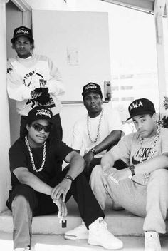 """N.W.A.- - Four men who pioneered the new phrase """"The Tanning of America."""" Thanks NWA !"""