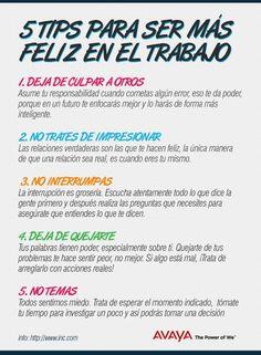 Cinco tips para ser más feliz en el trabajo