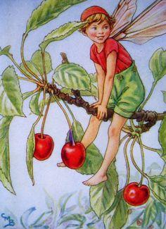 1930s CHERRY TREE FAIRY Cicely Mary Barker Print Ideal for Framing via Etsy