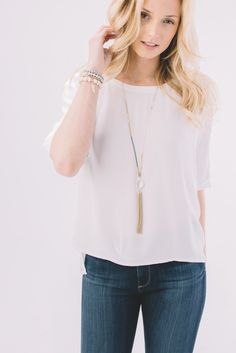 Gentle Fawn.  Saffron Top.  White