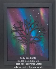 I have been having so much fun in my craft roomcreating some 'Northern Lights' backgrounds andusingmy Thoughtful Branches stamp set a...