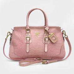Prada Pink Crocodile Skin Handbag 1181 $276.00