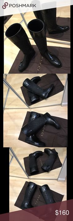 Gucci rubber/OLD LAI, Nero size 36. Original Gucci rain boots, great for winter. Have marks of use, but in an excellent condition. Great for winter, autumn and spring. 100% Waterproof. From last year :) comes with the box and dust bag. Gucci Shoes Ankle Boots & Booties