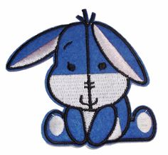 Winnie the Pooh Baby Eeyore Iron-on/Sew-on Embroidered PATCH
