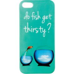 Fish Bowl iPhone 5 Case ❤ liked on Polyvore featuring accessories, tech accessories, phone cases, phone, iphone cases, cases, clothing accessories, apple iphone cases, iphone cover case and iphone case