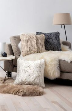 Inspiring Big Couch Pillows Bedding Ideas Gorgeous How Big Are Your Pillows Bossy Color Annie Elliott Interior Design Multifunctional Large Decorative Pillows Big Throw Pillows Oversized Knit Decorative All About Sofa Design and Decorating Ideas Oversized Throw Pillows, Decorative Throw Pillows, Sofa Pillows, Cushions, Accent Pillows, Brown Couch Pillows, Beige Couch, Black Pillows, Knit Pillow